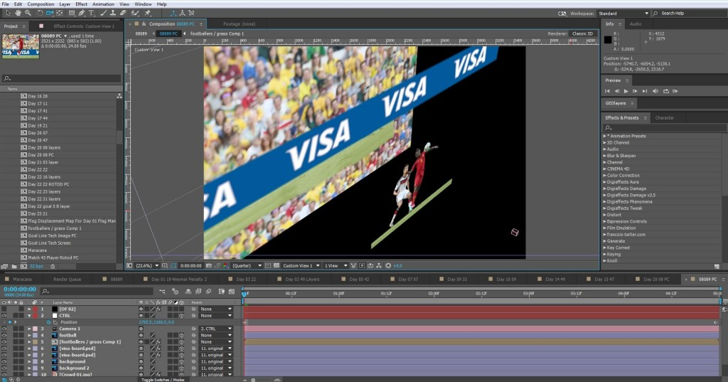 Visa World Cup 3d Layer stacking