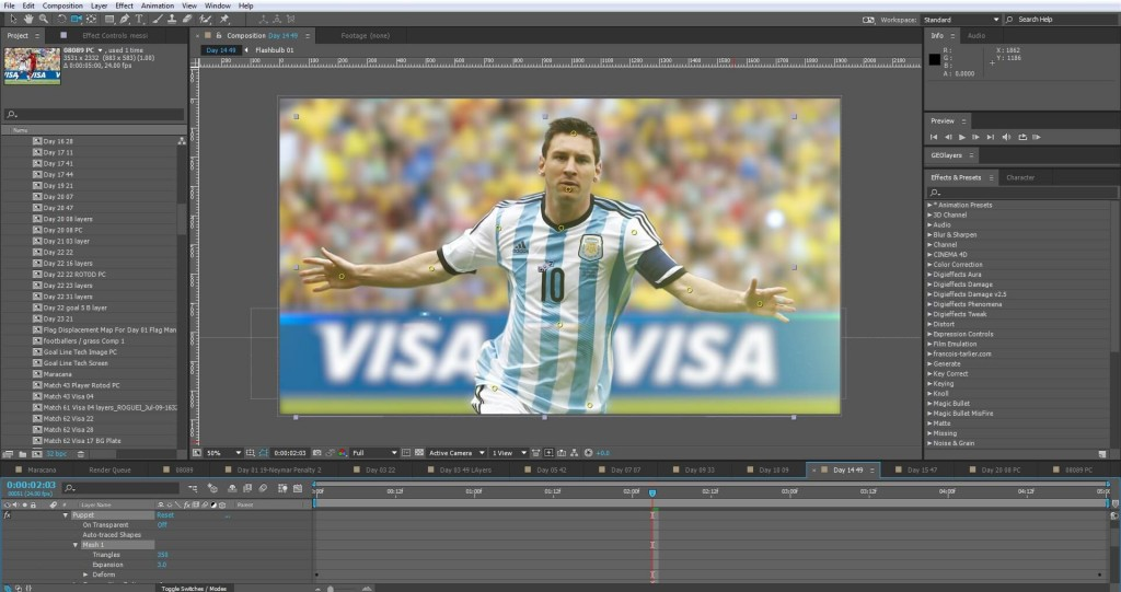 Visa World Cup Puppet Tool Animation