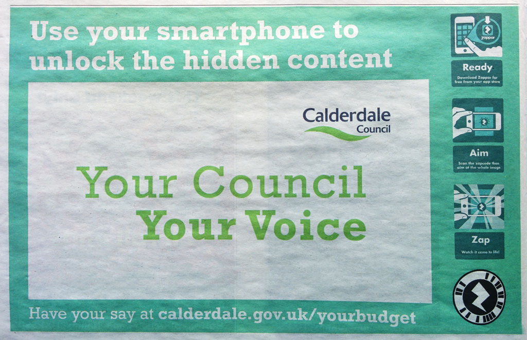 Calderdale Newspaper Ad