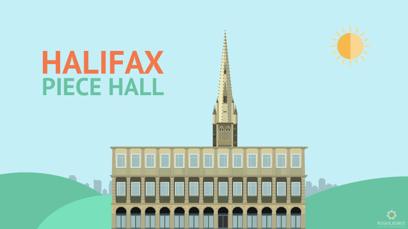 Piece Hall Halifax Illustration