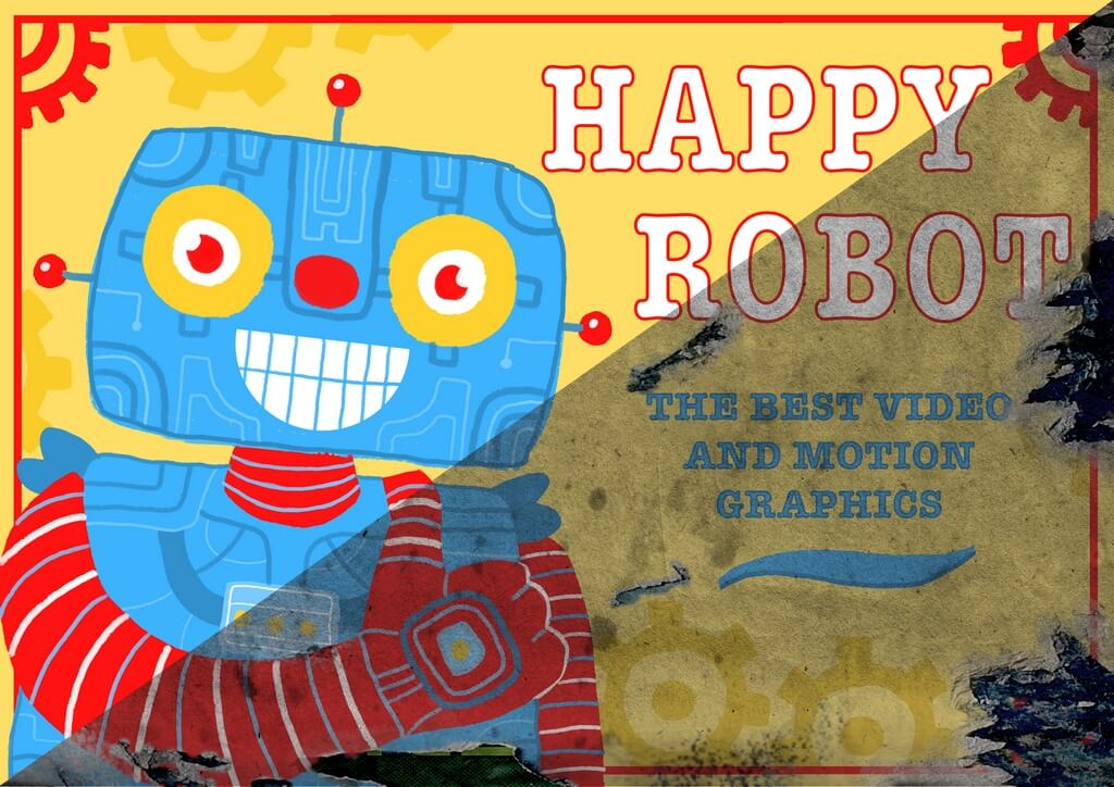 Rogue Robot Origins Happy Robot Illustration